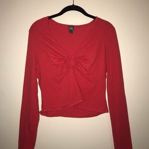 Red Wild Fable Long Sleeve